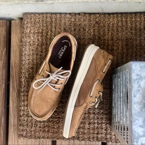 Boys Sperry Topsider Gamefish Tan Moccasin